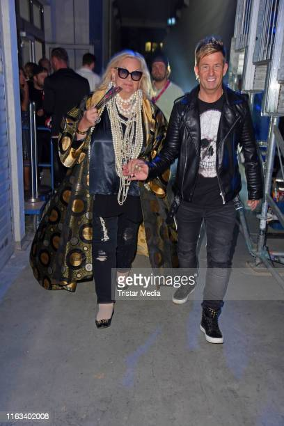 Lilo von Kiesenwetter and Almklausi attend the Promi Big Brother final at MMC Studios on August 23 2019 in Cologne Germany
