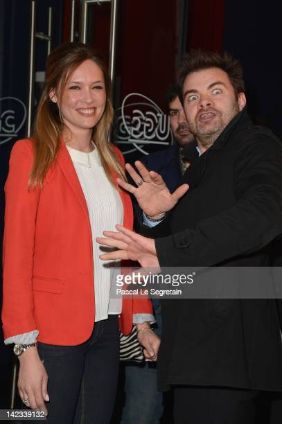 Lilou Fogli and Clovis Cornillac attend 'Radiostars' premiere at Cinema UGC Normandie on April 2 2012 in Paris France