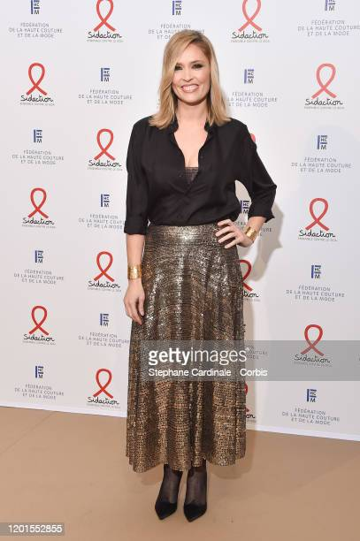 Lilou Fogli attends Sidaction Gala Dinner 2020 At Pavillon Cambon on January 23 2020 in Paris France