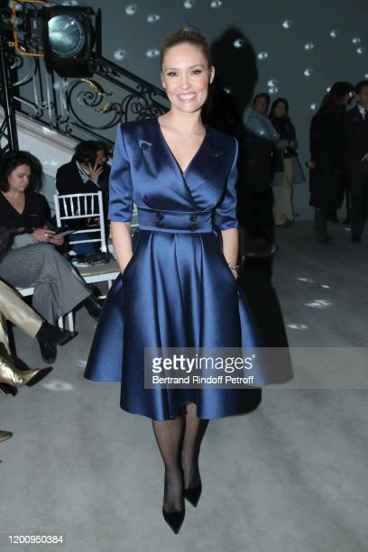Lilou Fogli attends the Alexis Mabille Haute Couture Spring/Summer 2020 show as part of Paris Fashion Week on January 21 2020 in Paris France