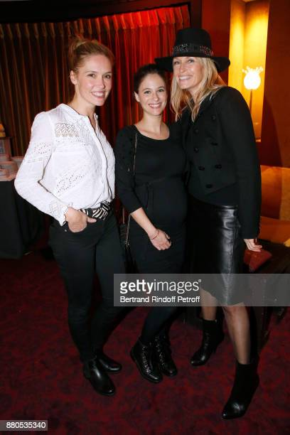 Lilou Fogli Melanie Bernier and Estelle Lefebure attend the Inauguration of the 'Chalet Les Neiges 1850' on the terrace of the Hotel 'Barriere Le...