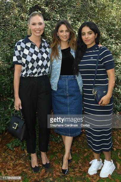 Lilou Fogli Melanie Bernier and Hafsia Herzi attend the Lacoste Womenswear Spring/Summer 2020 show as part of Paris Fashion Week on October 01 2019...