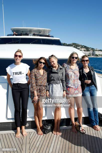 Lilou Fogli Severine Ferrer Beatrice Rozen Caroline Faindt and guest attend 'Suite Michele Morgan Opening' at Hotel Majestic Barriere on October 7...