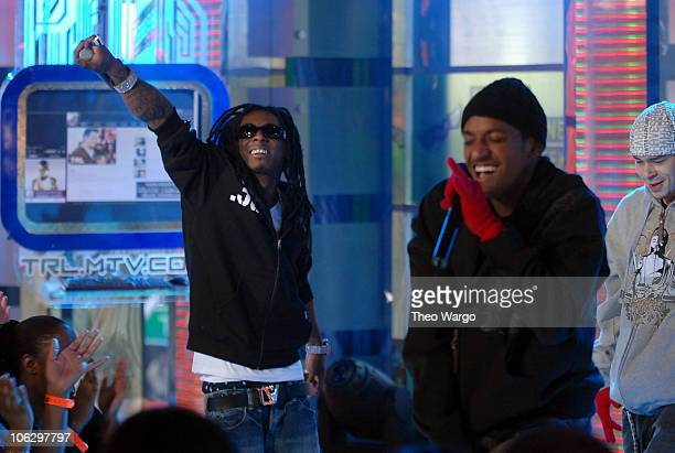"""Lil'Wayne and Lloyd during Ashley Tisdale, Fergie, Lloyd and Timbaland Visit MTV's """"TRL"""" - February 7, 2007 at MTV Studios in New York City, New..."""