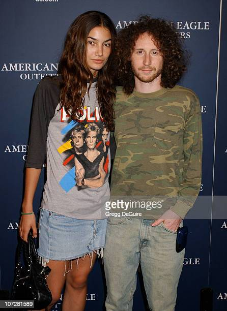 Lily Aldrich and Mike Einziger of Incubus during American Eagle Outfitters Rocks Los Angeles with a Back To School Tailgate Party Arrivals at...