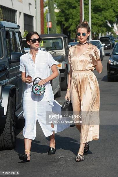 Lily Aldridge and Behati Prinsloo are seen on April 05 2016 in Los Angeles California