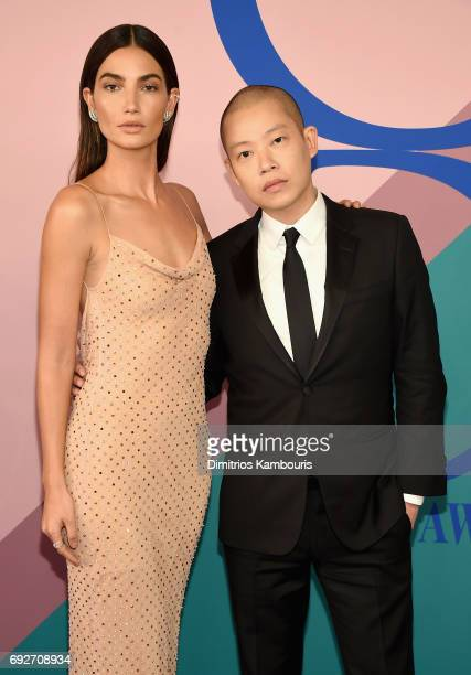 Lily Aldridge and designer Jason Wu attend the 2017 CFDA Fashion Awards at Hammerstein Ballroom on June 5 2017 in New York City