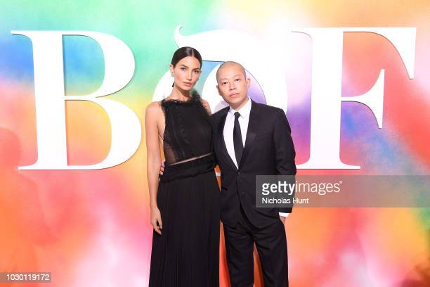 Lily Aldridge and Jason Wu attend the #BoF500 gala dinner during New York Fashion Week Spring/Summer 2019 at 1 Hotel Brooklyn Bridge on September 9...