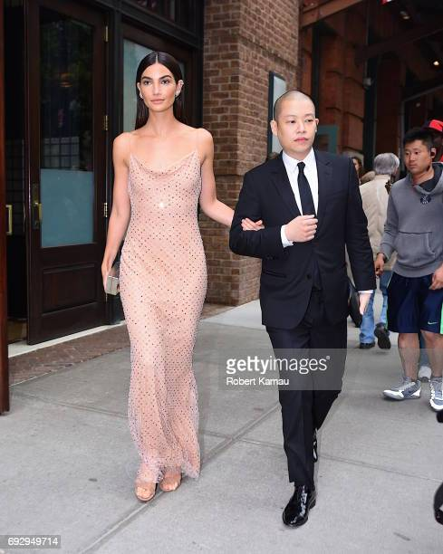 Lily Aldridge and Jason Wu seen out Manhattan on June 5 2017 in New York City