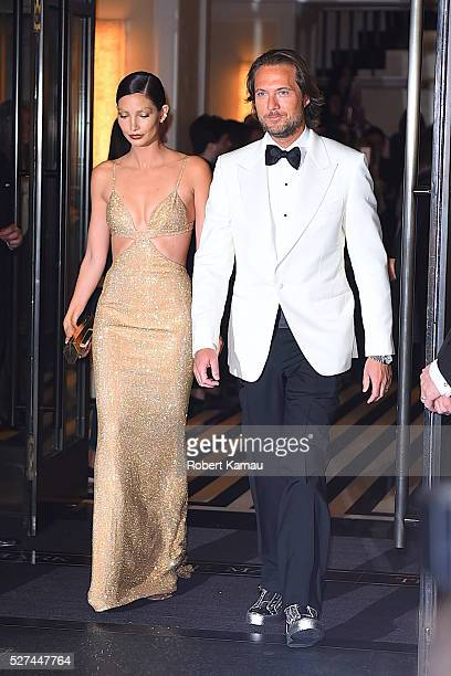Lily Aldridge and Lance Lepere head to MET Gala on May 2 2016 in New York City