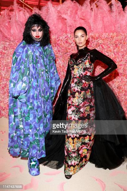 Lily Aldridge and Richard Quinn attend The 2019 Met Gala Celebrating Camp: Notes on Fashion at Metropolitan Museum of Art on May 06, 2019 in New York...