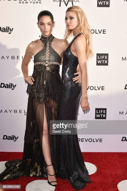 Lily Aldridge and Stella Maxwell attend the Daily Front Row's 3rd Annual Fashion Los Angeles Awards - Arrivals at Sunset Tower Hotel on April 2, 2017...