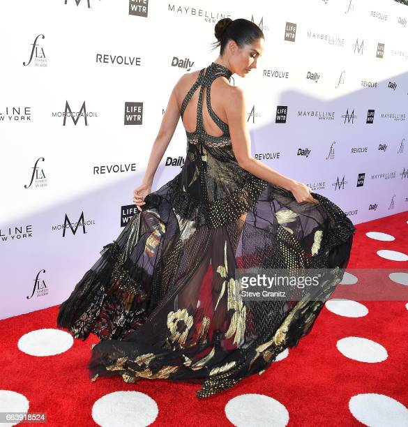 Lily Aldridge arrives at the Daily Front Row's 3rd Annual Fashion Los Angeles Awards on April 2 2017 in West Hollywood California