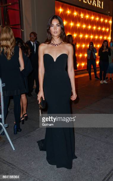 Lily Aldridge at a Bulgari event on October 20 2017 in New York City