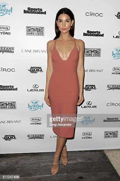 Lily Aldridge attends A Night at Sea VIP Boat Cruise sponsored by Sports Illustrated Swimsuit 2016 Yacht Cruise on February 18 2016 in Miami Florida