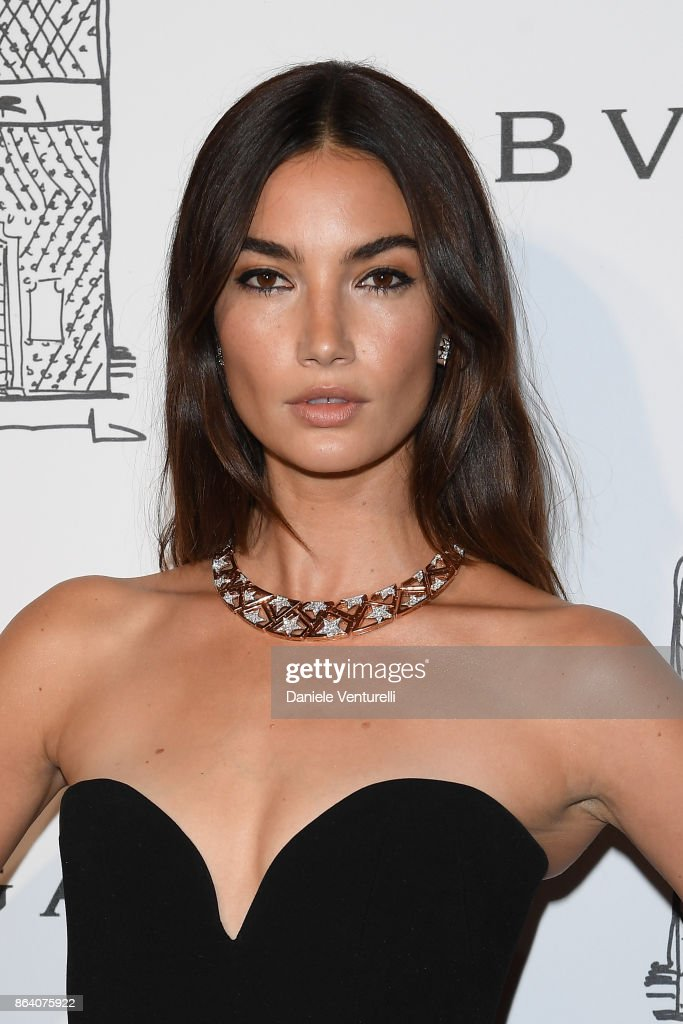 Lily Aldridge attends a party to celebrate the Bvlgari Flagship Store Reopening on October 20, 2017 in New York City.