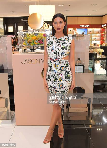 Lily Aldridge attends a personal appearance with Jason Wu at Bloomingdale's Century City on January 18 2018 in Century City California
