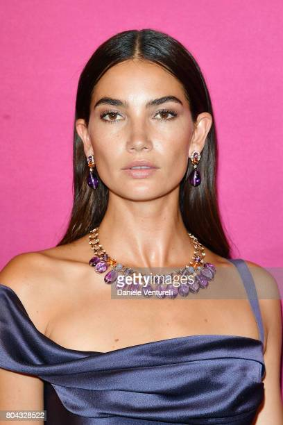 Lily Aldridge attends Bvlgari Party at Scuola Grande della Misericordia on June 29 2017 in Venice Italy