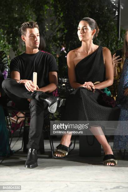 Lily Aldridge attends Carolina Herrera fashion show during New York Fashion Week at The Museum of Modern Art on September 11 2017 in New York City