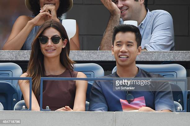 Lily Aldridge attends day 12 of the 2014 US Open at USTA Billie Jean King National Tennis Center on September 5, 2014 in New York City.