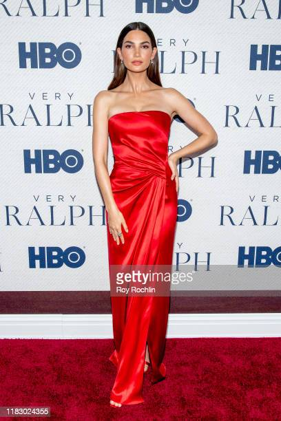 Lily Aldridge attends HBO's Very Ralph World Premiere at The Metropolitan Museum of Art on October 23 2019 in New York City