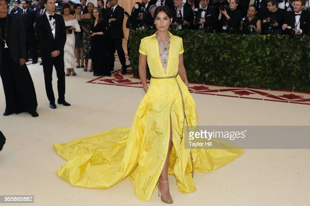 Lily Aldridge attends 'Heavenly Bodies Fashion the Catholic Imagination' the 2018 Costume Institute Benefit at Metropolitan Museum of Art on May 7...