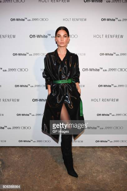 Lily Aldridge attends Holt Renfrew celebrates the launch of Off White C/O Jimmy Choo collection at Only One Gallery on March 1 2018 in Toronto Canada