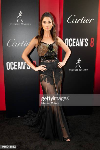 Lily Aldridge attends 'Ocean's 8' World Premiere at Alice Tully Hall on June 5 2018 in New York City