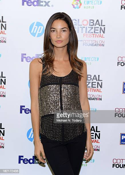 Lily Aldridge attends the 2013 Global Citizen Festival to end extreme poverty in Central Park on September 28 2013 in New York City New York