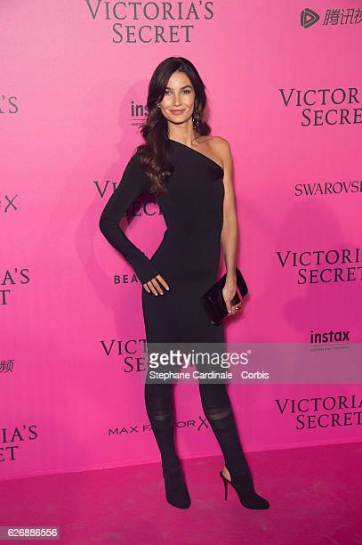 Lily Aldridge attends the 2016 Victoria's Secret Fashion Show after party at Le Grand Palais on November 30 2016 in Paris France