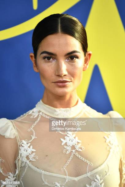 Lily Aldridge attends the 2018 CFDA Fashion Awards at Brooklyn Museum on June 4 2018 in New York City
