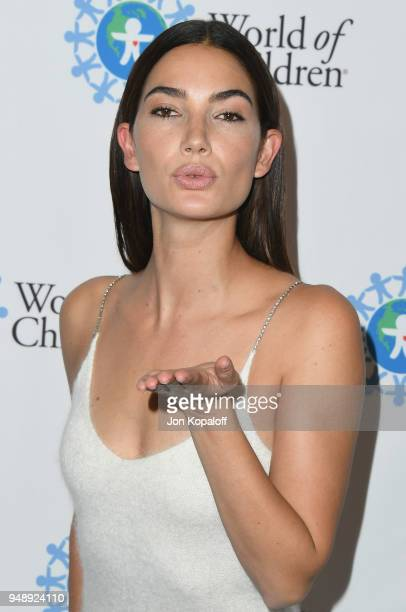 Lily Aldridge attends the 2018 World Of Children Hero Awards at Montage Beverly Hills on April 19 2018 in Beverly Hills California