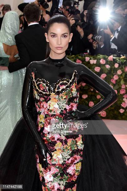 Lily Aldridge attends The 2019 Met Gala Celebrating Camp: Notes On Fashion at The Metropolitan Museum of Art on May 06, 2019 in New York City.