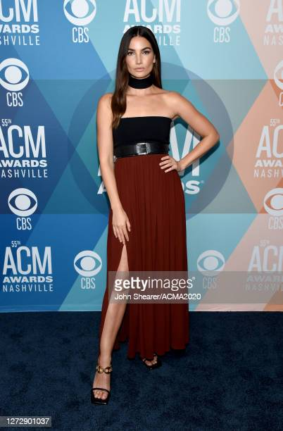 Lily Aldridge attends the 55th Academy of Country Music Awards at the Grand Ole Opry on September 16, 2020 in Nashville, Tennessee. The ACM Awards...
