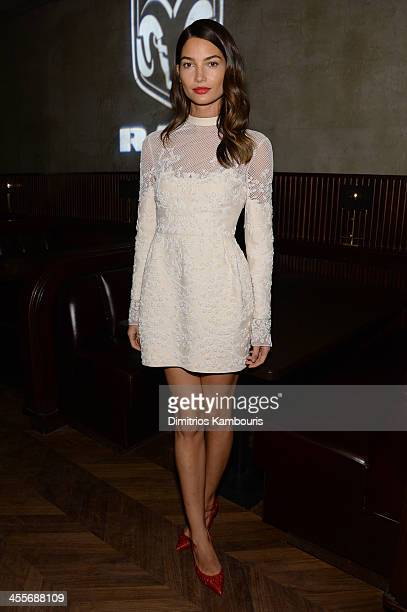Lily Aldridge attends the after party for AUGUST: OSAGE COUNTY presented by The Weinstein Company with Ram Trucks on December 12, 2013 in New York...