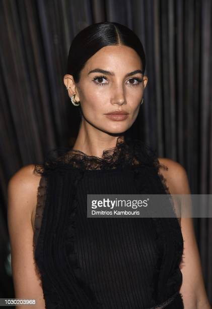 Lily Aldridge attends the #BoF500 gala dinner during New York Fashion Week Spring/Summer 2019 at 1 Hotel Brooklyn Bridge on September 9 2018 in...