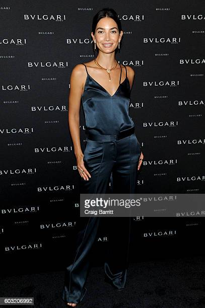Lily Aldridge attends the Bulgari 2016/2017 International Campaign Muse announcement on September 12 2016 in New York City
