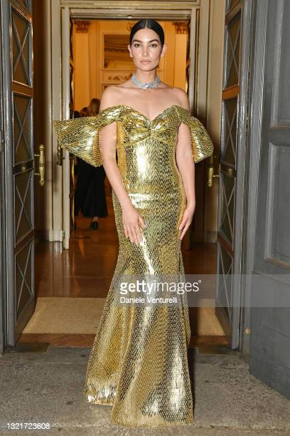 Lily Aldridge attends the Bvlgari Concert at Teatro Alla Scala on June 03, 2021 in Milan, Italy.