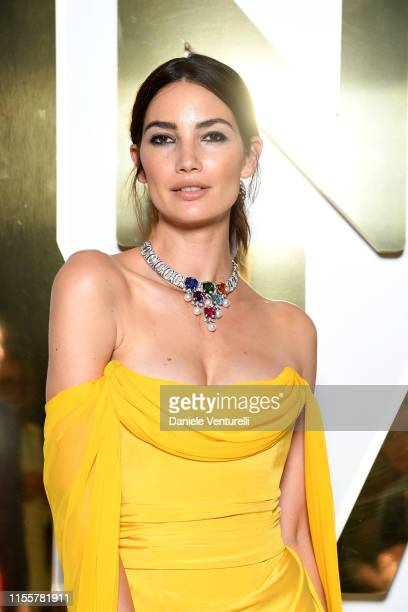 Lily Aldridge attends the Bvlgari Hight Jewelry Exhibition on June 13 2019 in Capri Italy