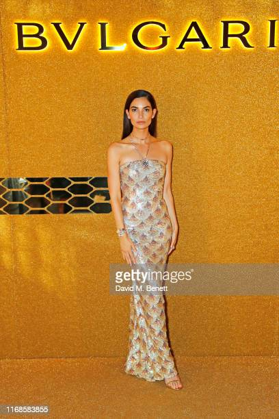 Lily Aldridge attends the Bvlgari Serpenti Seduttori launch at the Roundhouse on September 15 2019 in London England
