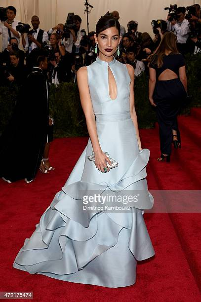 Lily Aldridge attends the 'China Through The Looking Glass' Costume Institute Benefit Gala at the Metropolitan Museum of Art on May 4 2015 in New...