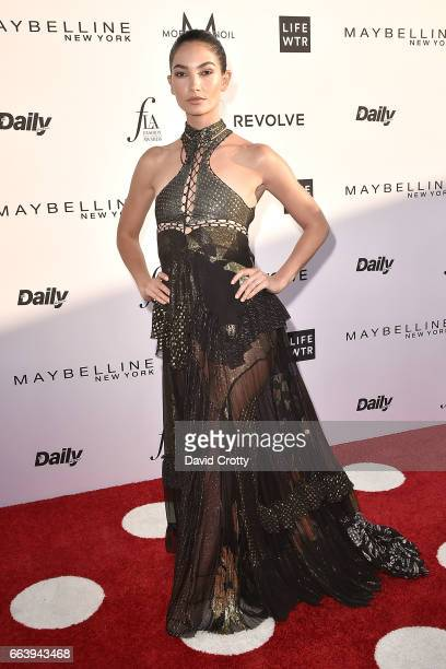 Lily Aldridge attends the Daily Front Row's 3rd Annual Fashion Los Angeles Awards - Arrivals at Sunset Tower Hotel on April 2, 2017 in West...