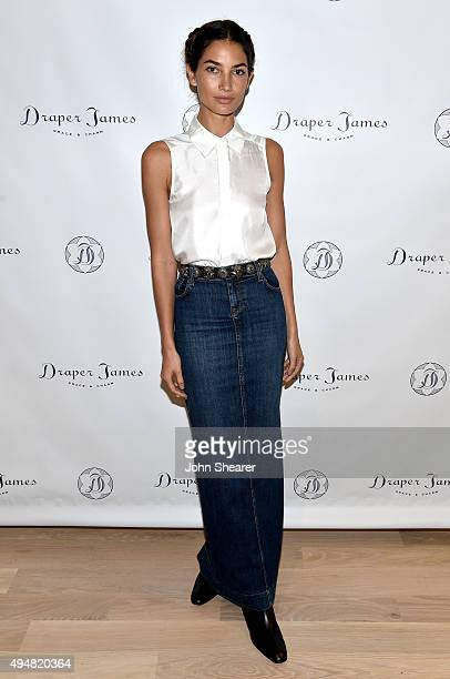 Lily Aldridge attends the Draper James Nashville store opening on October 28 2015 in Nashville Tennessee