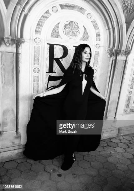 Lily Aldridge attends the Ralph Lauren 50th Anniversary show during New York Fashion Week at Bethesda Terrace on September 7 2018 in New York City
