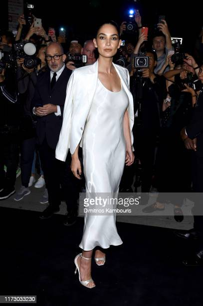 Lily Aldridge attends the Ralph Lauren Fashion Show Arrivals during New York Fashion Week September 07, 2019 in New York City.