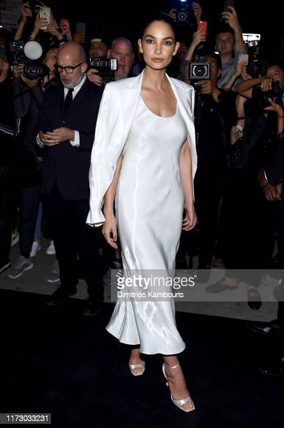 Lily Aldridge attends the Ralph Lauren Fashion Show Arrivals during New York Fashion Week September 07 2019 in New York City