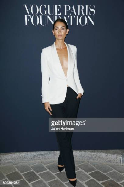 Lily Aldridge attends the Vogue Foundation Dinner during Paris Fashion Week as part of Haute Couture Fall/Winter 2017-2018 at Musee Galliera on July...