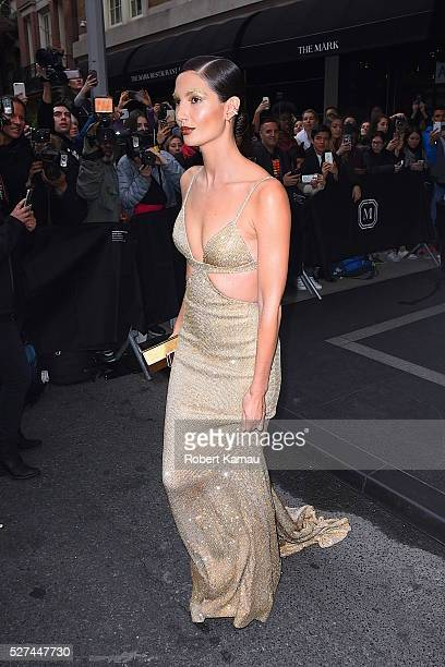 Lily Aldridge heads to MET Gala on May 2 2016 in New York City