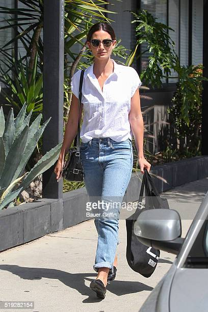 Lily Aldridge is seen on April 05 2016 in Los Angeles California