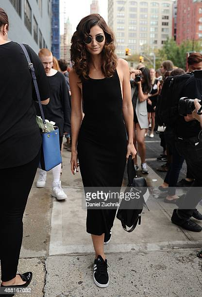 Lily Aldridge is seen outside the DVF show during New York Fashion Week 2016 on September 13 2015 in New York City